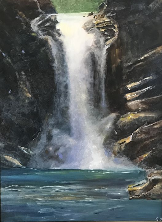 """Running Eagle Falls"" - Panuszka's paintings"