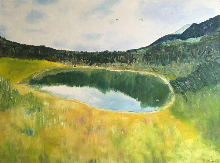 """Pond Litworowy in Tatra Mountains"" - Panuszka's paintings"