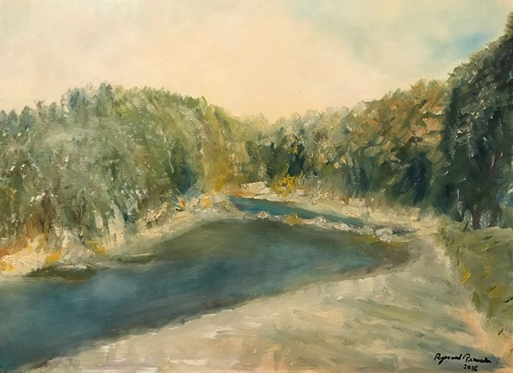 """Meander of Raba River"" - Panuszka's paintings"