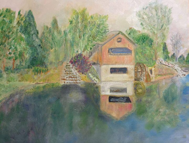 """Watermill@ RacewayRd, Indianapolis - Panuszka's paintings"