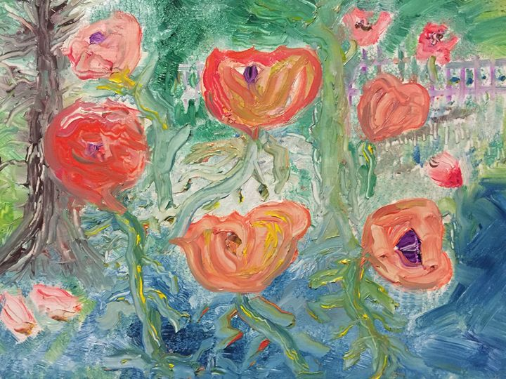 """Vibrant Poppies"" - Panuszka's paintings"