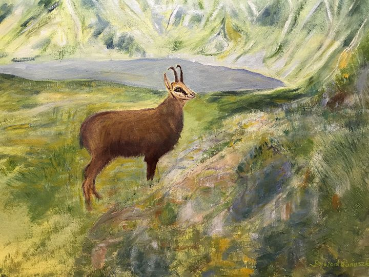 """""""Tatra Chamois  in the Valley"""" - Panuszka's paintings"""