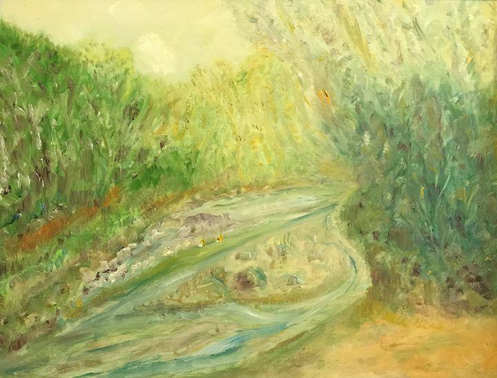 """""""Creek Meander"""" - Panuszka's paintings"""