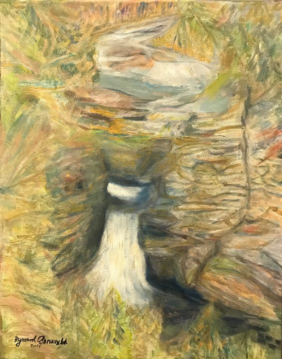 """Impression on Linville Falls NC"" - Panuszka's paintings"