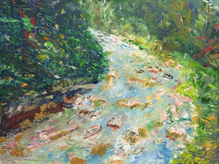 Mountain stream in Tatra - Panuszka's paintings