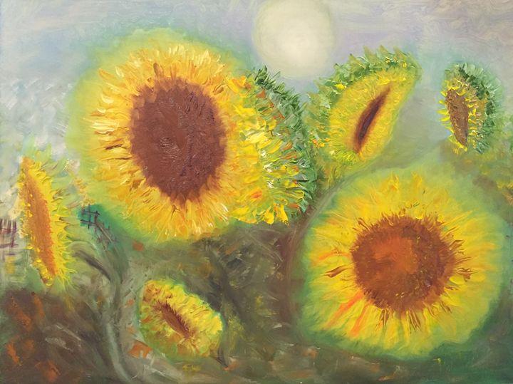 """Around of my sunflowers"" - Panuszka's paintings"