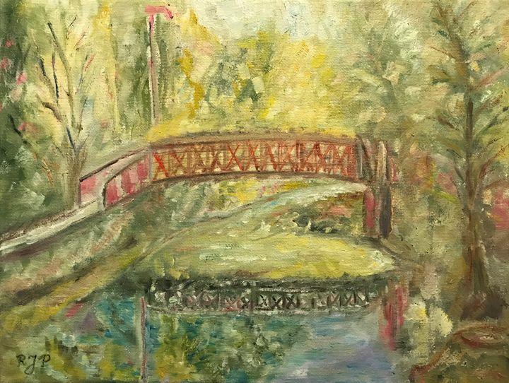 """""""Bridge in the Park - Panuszka's paintings"""