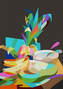 Tropical Fruits in Cubism style
