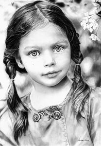 Alluring- Pencil Sketch of Kid