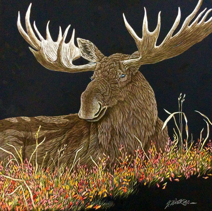 Autumn Siesta, Moose - Jwatkins