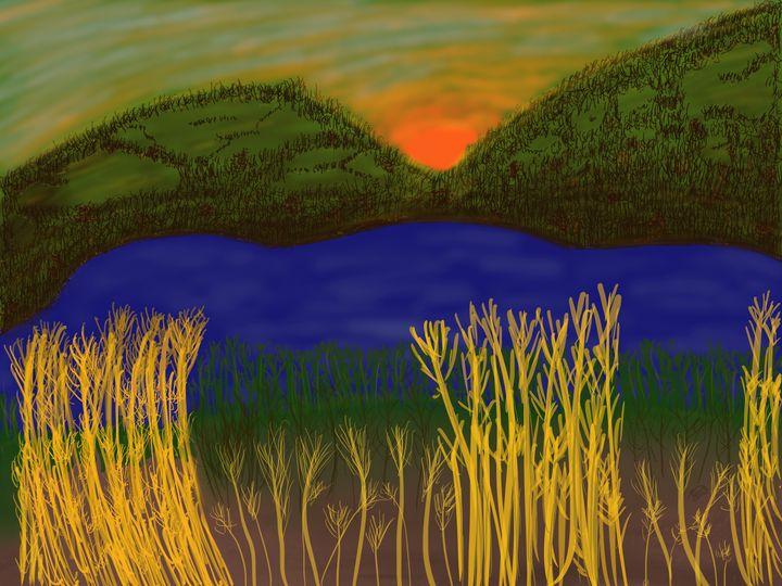 Sunset on the Lake - ebd artworks