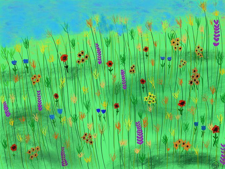 Hillside Flowers - ebd artworks
