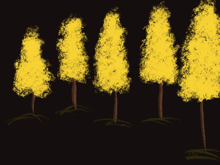 Yellow Trees - ebd artworks