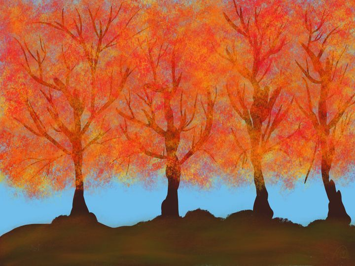 More Autumn Trees - ebd artworks