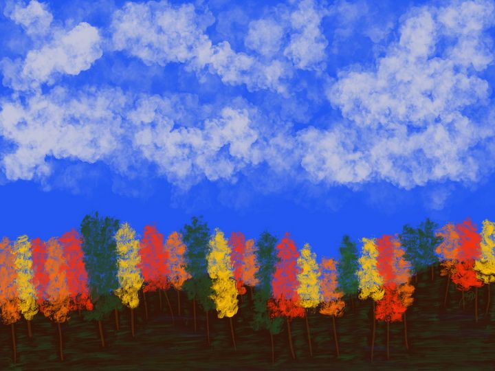 Trees and Clouds - ebd artworks