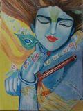 Original Drawing Of Lord Krishna