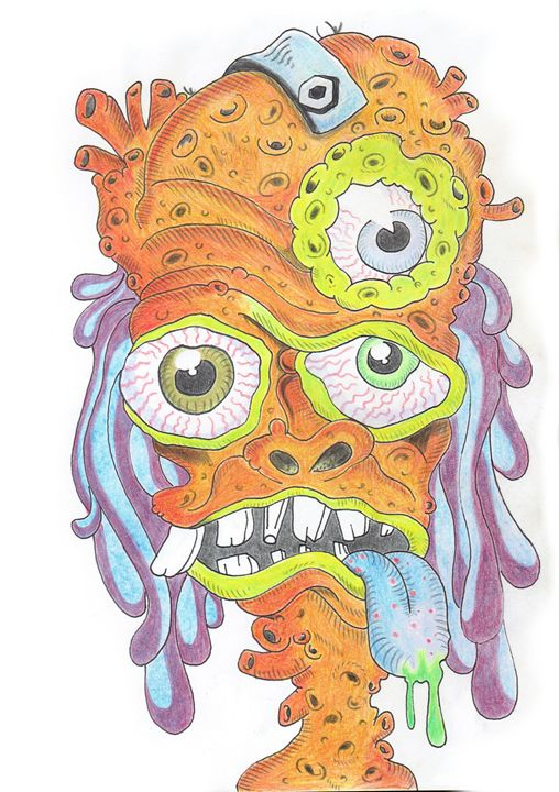 Psychedelic experience level 2 - Made by Drugs - Drawings