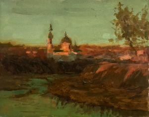 Sunset on Luganka