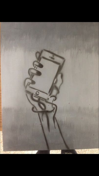 Phone attachment - Haylie's artwork