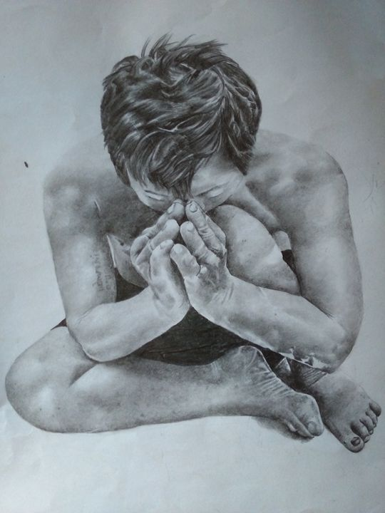 Knelt in Prayer - MIKE'S ARTWORLD