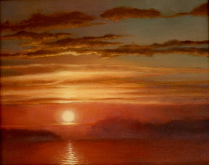 Fire sunset - Caroline Jones