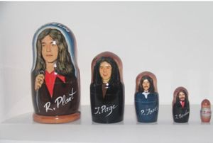 Led Zeppelin 5 Pc Art - Russian nesting doll