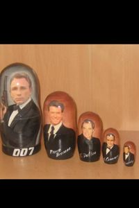 James Bond Russian Nedting Doll - Russian nesting doll