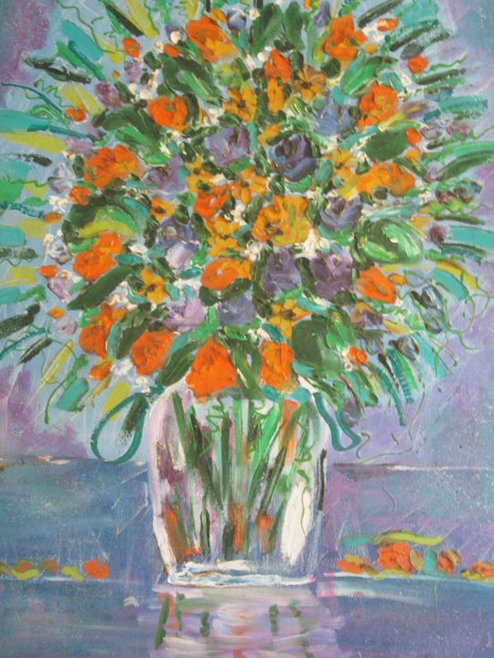 Orange and Blue - Mmaya Arts