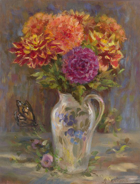 Dalias and Chrysanthemums - Alina Santana