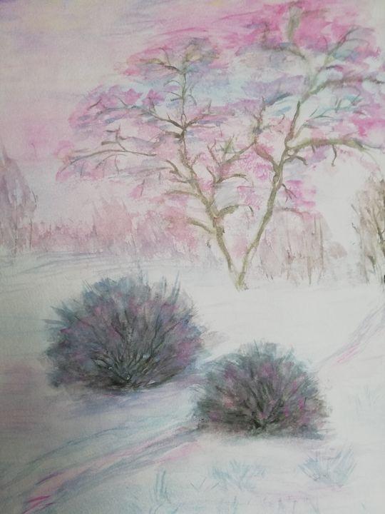 Морозы цвета фламинго - Landscapes