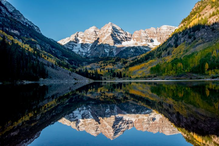 Morning in Maroon Bells - J Mendoza