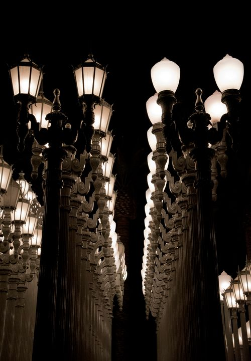 Urban Light Looking Up - J Mendoza