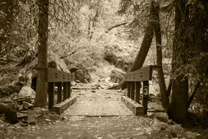 Bridge to Hanging Lake