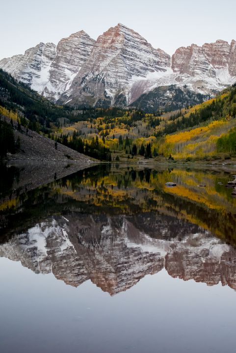 Winter at Maroon Bells - J Mendoza