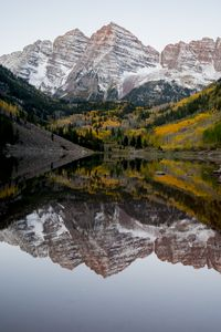 Winter at Maroon Bells