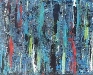 Blue and Multi-colored Abstract