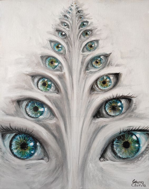 eyes see you - The drawings and paintings of Corina Chirila