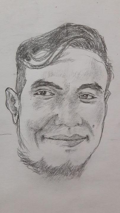 my own face on pencil - Muhammad Saifuddin Hamsyah