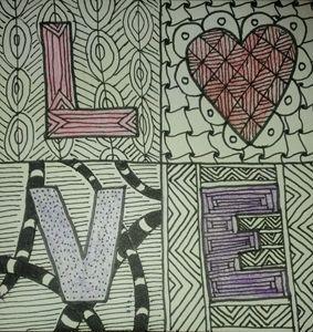 L-heart-ve Tangle