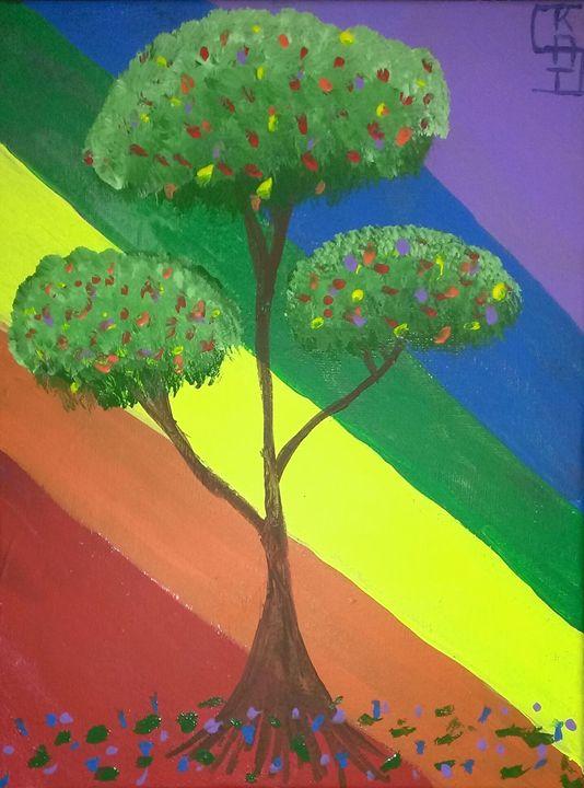 Rainbow Tree - The Painted Kat