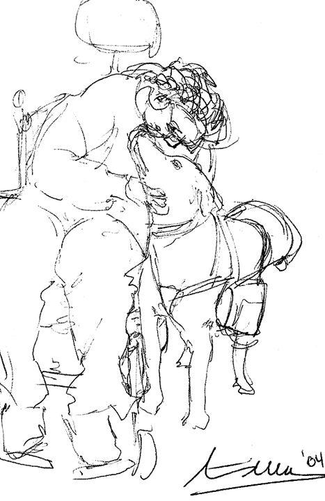 Sketch Service Dog - Miriam Mas Art