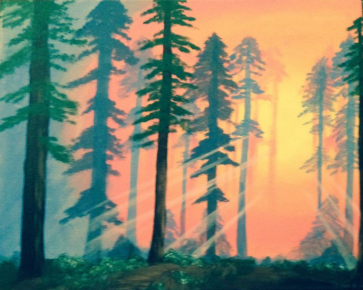 Sunrise in the Forest - J. Rider