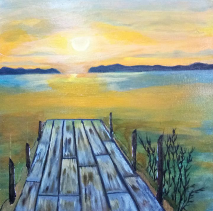 Sea of galilee on the boardwalk. - Nothern Border Artist
