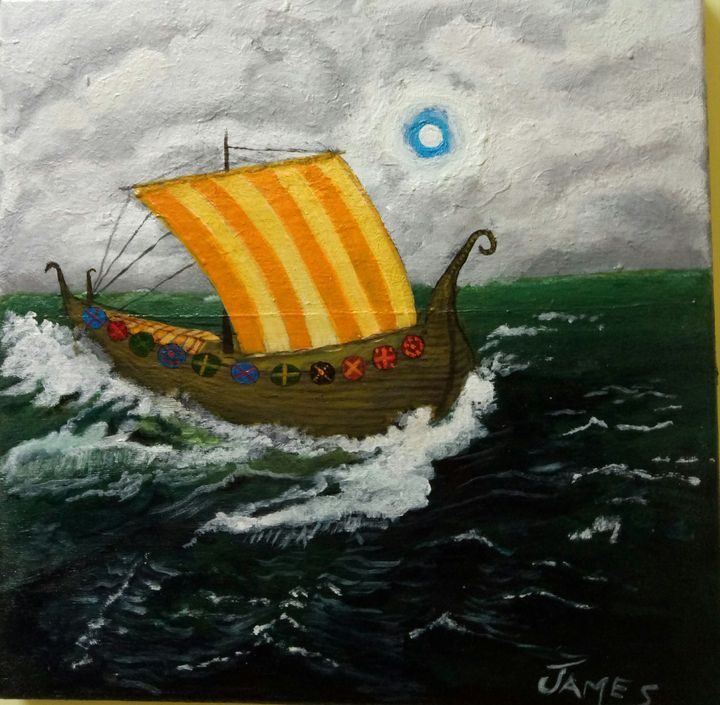 Viking Ship - Nothern Border Artist