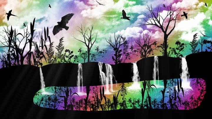 Rainbow Waterfalls - Exiled Emotion Art