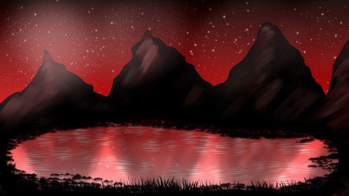 Red Landscape - Exiled Emotion Art