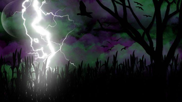 Lightning Birds in a Corn Field - Exiled Emotion Art