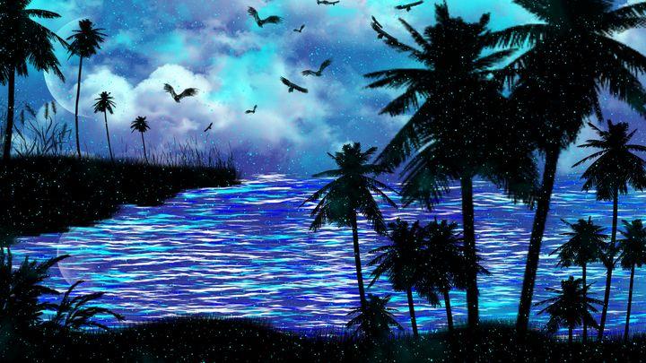 Blue Beach - Exiled Emotion Art