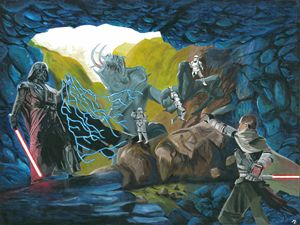 Star Wars Cave Duel - Mura