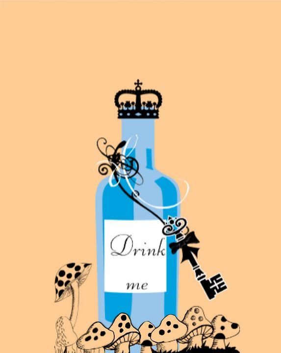 Drink me Bottle - TeabiscuitsArts